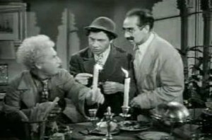 Harpo, Chico and Groucho in A Night in Casablanca