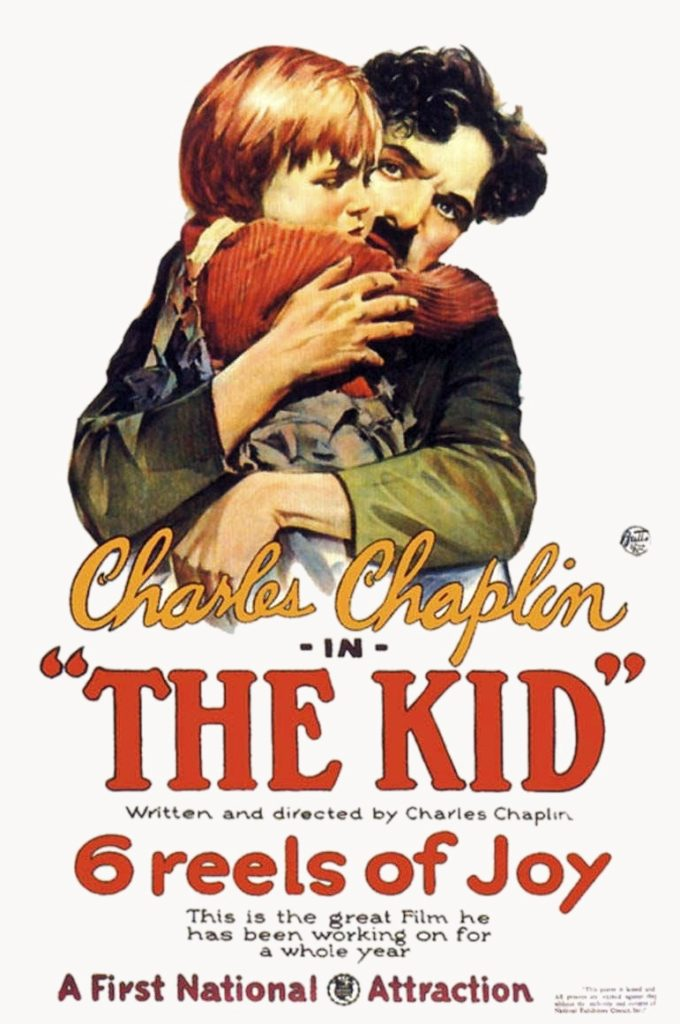 The Kid, produced & directed by Charlie Chaplin. Starring Charlie Chaplin, Edna Purviance, Jackie Coogan