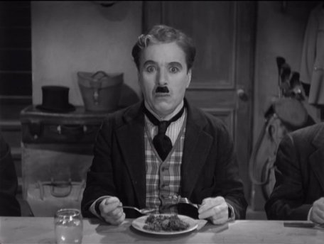 "The Great Dictator – Charlie Chaplin as the Jewish barber, realizes that he's been 'chosen"" for a suicide mission"