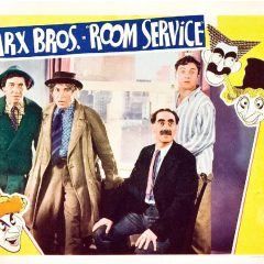 Room Service (1938) starring the Marx Brothers (Groucho Marx, Chico Marx, Harpo Marx), Lucille Ball, Ann Miller