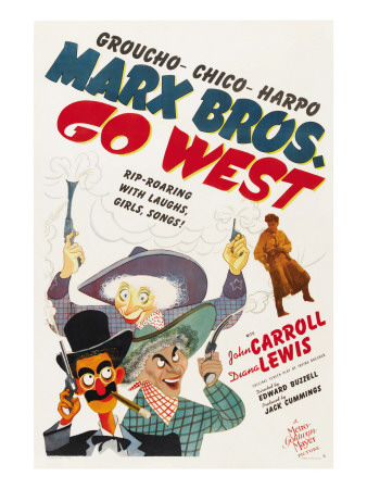 Go West (1940) starring the Marx Brothers - Groucho, Chico, and Harpo