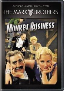 Monkey Business, starring Groucho Marx, Chico Marx, Harpo Marx, Zeppo Marx, Thelma Todd