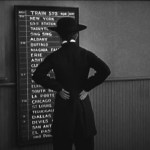 In The Pilgrim, Charlie Chaplin picks a random train destination