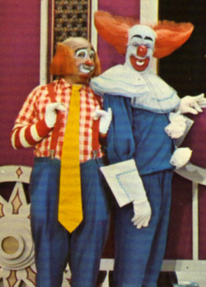 Cookie and Bozo the Clown