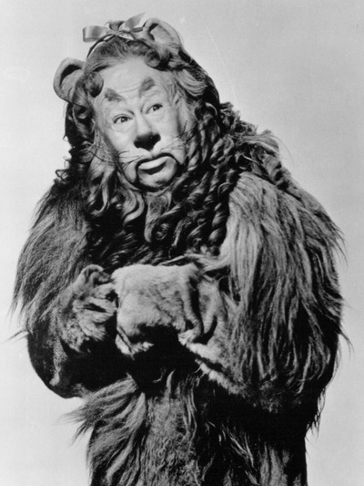 Bert Lahr in a publicity photo as the iconic Cowardly Lion in The Wizard of Oz