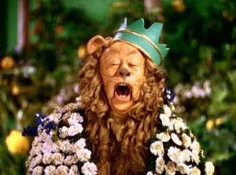 Bert Lahr as the Cowardly Lion -- If I Were King of the Forest ...