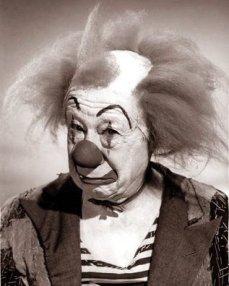 Bert Lahr as a white faced clown