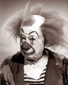 Bert Lahr as a white faced clown