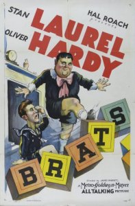 Brats - movie poster - starring Stan Laurel and Oliver Hardy