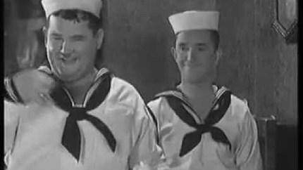 Men O'War (1929) starring Stan Laurel, Oliver Hardy, James Finlayson, Charlie Hall