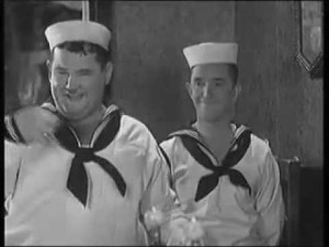 Men O'War (1929) starring Stan Laurel, Oliver Hardy, James Finlayson, Charlie Hall