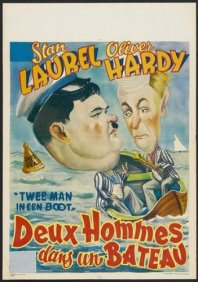 another Belgian movie poster for Saps at Sea