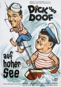 German movie poster for Saps at Sea
