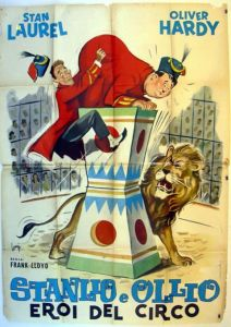 The Chimp - Laurel and Hardy - Italian movie poster