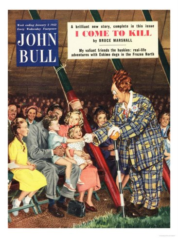 Coco (Michael Polakovs) on the cover of John Bull magazine