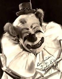 Autographed face shot of Felix Adler