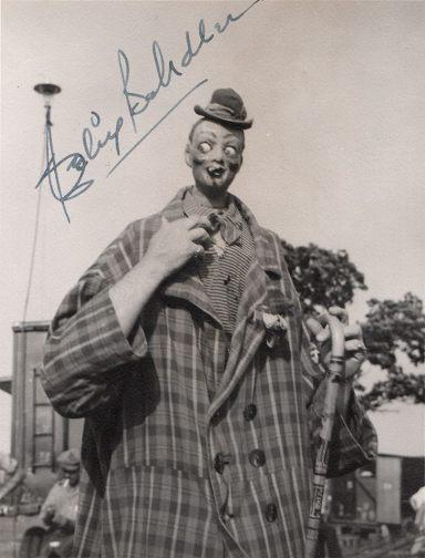 Autographed photo of Felix Adler, doing his pinhead walkaround