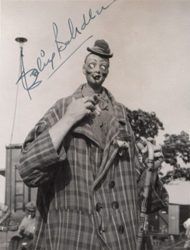 Autographed photo of Felix Adler, doing his pinhead walkaround
