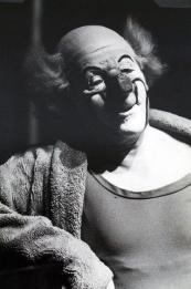 Charlie Rivel – black and white photo