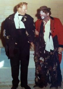 Ringmaster Harold Ronk and Otto Griebling