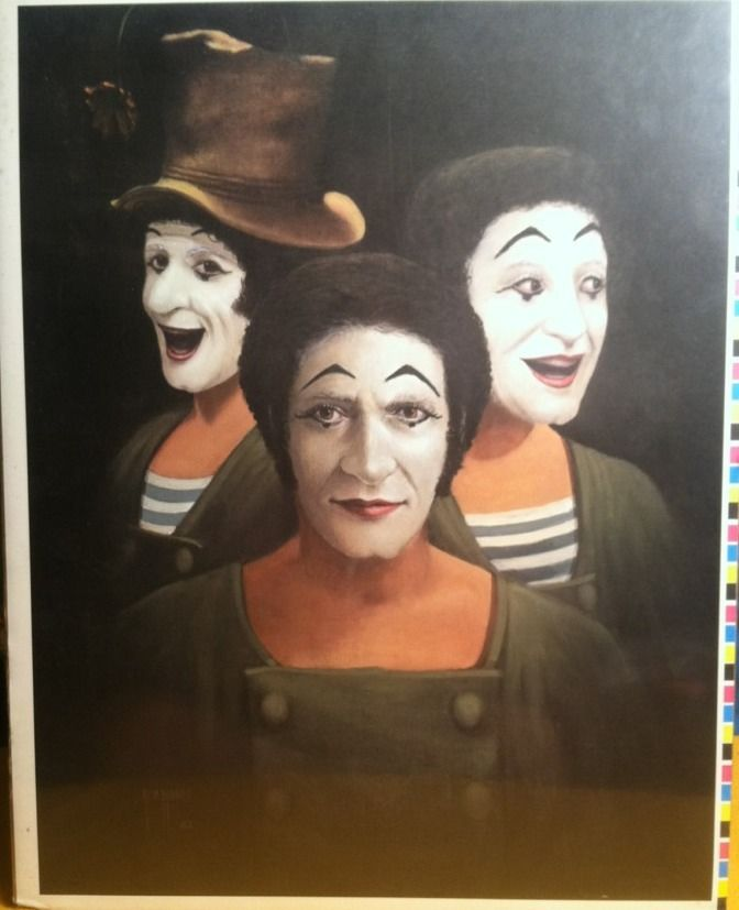 Painting of Marcel Marceau by Jim Howle