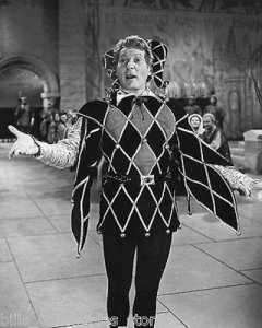 Danny Kaye dressed as The Court Jester