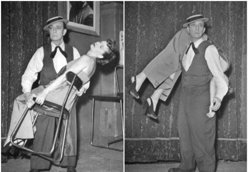 Buster Keaton and his wife Elenor at Cirque Medrano