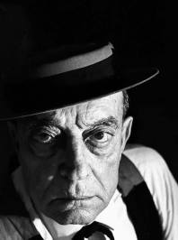 Portrait of an older Buster Keaton