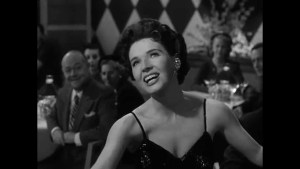 the lovely Polly Bergen singing at a restaurant - a lovely voice, but a needless scene