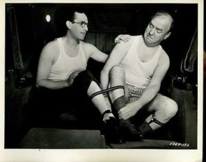 Harold Lloyd and William Frawley in Professor Beware