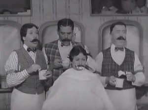 Lucy's Showbiz Swan Song - Ethel, Ricky, Fred and Lucy singing in the barbershop quartet, where the other three use the lather to keep Lucy from singing!