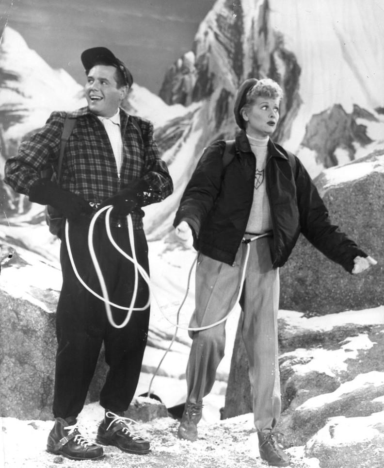 Desi Arnaz and Lucille Ball in the I Love Lucy episode Lucy in the Swiss Alps