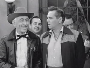 The sheriff auditions his obese daughters for Ricky Ricardo; Desi Arnaz isnt pleased