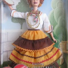 Barbie doll as Lucy Ricardo in The Operetta