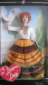 Barbie doll as Lucy Ricardo in The Operetta