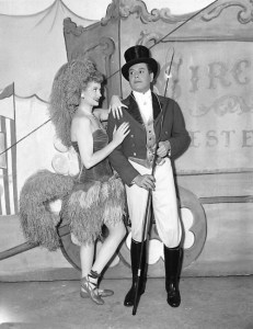 Lucy Meets the Queen - Lucy in the Palladium show as circus pony, cozying up to ringmaster Ricky