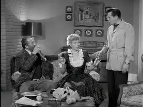The Quiz Show - bum, Lucy and Ricky in the Ricardos apartment
