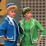Lucille Ball and Carol Burnett in the very first episode of The Carol Burnett Show
