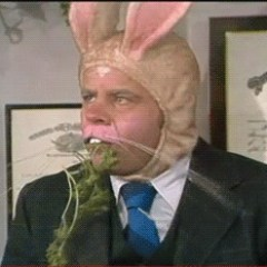Tim Conway in a bunny costume in a skit on The Carol Burnett Show