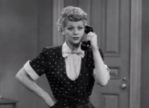 Breaking the Lease - Lucy talking to Ethel on the phone