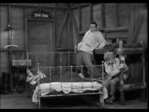 The beds move around the cabin as the train goes by, in the I Love Lucy episode First Stop