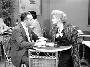 Charles Boyer and Lucille Ball in Lucy Meets Charles Boyer