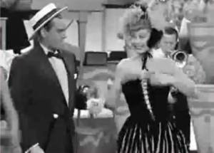 Lucille Ball and Desi Arnaz in The French Revue, I Love Lucy