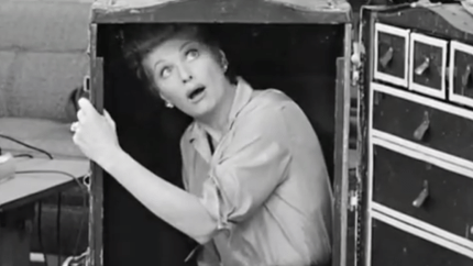 The Passports - I Love Lucy - Lucy hides in Fred's old trunk, only to get locked in it!