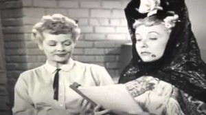 Lucy and Ethel read through in Lucy Writes a Play