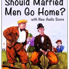 In Should Married Men Go Home? Stan Laurel invites himself into Oliver Hardy's home, causes chaos, takes Ollie golfing, creates more chaos - mud fight!