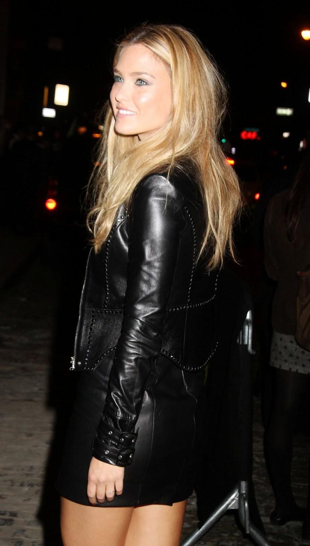 Bar RefBar Refaelli - Leather Mini Dressaelli attended the star studded opening of Versace's SoHo store in Lower Manhattan (October 25, 2012)