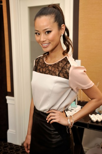 Jamie Chung attends Get Glam: A Fashion Week Lounge event at The Empire Hotel on September 9, 2012 in New York City.