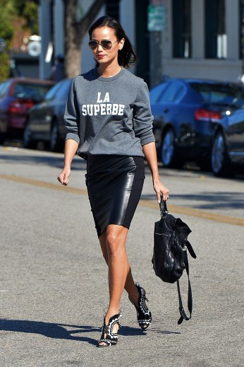 Jamie Chung spotted in Hollywood on 15th October, 2014.