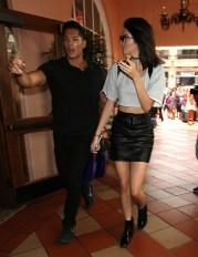 Kendall Jenner - Leather Mini Skirt